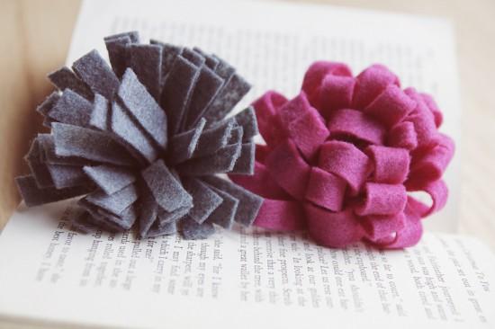 Фетр - отличный материал для создания цветочных...