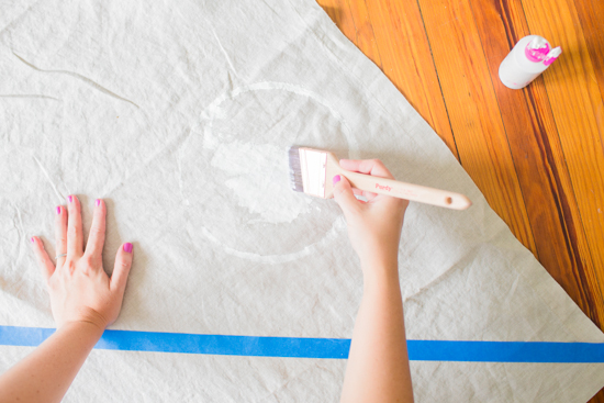 How to make a picnic blanket with drop cloth canvas 4