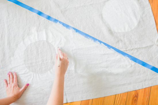 How to make a picnic blanket with drop cloth canvas 6