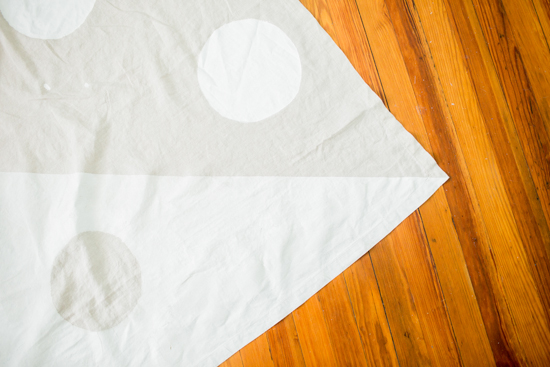 How to make a picnic blanket with drop cloth canvas 9