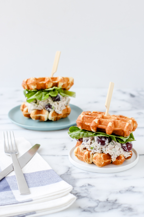 Recipe for chicken and waffles sandwich 2